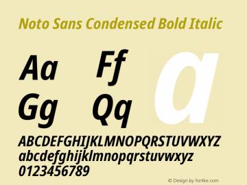 Noto Sans Condensed Bold Italic Version 2.001图片样张