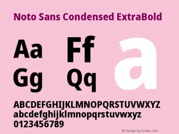 Noto Sans Condensed ExtraBold Version 2.001图片样张