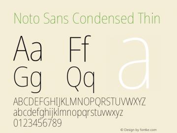 Noto Sans Condensed Thin Version 2.001图片样张