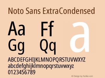 Noto Sans ExtraCondensed Version 2.001图片样张