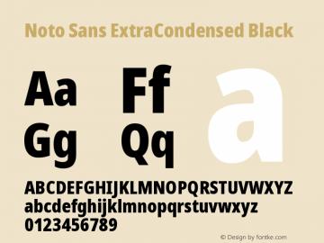 Noto Sans ExtraCondensed Black Version 2.001图片样张