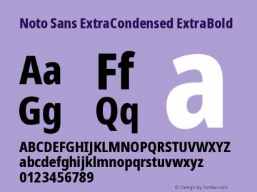 Noto Sans ExtraCondensed ExtraBold Version 2.001图片样张