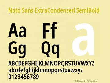 Noto Sans ExtraCondensed SemiBold Version 2.001图片样张
