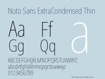 Noto Sans ExtraCondensed Thin Version 2.001图片样张