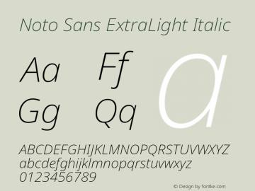 Noto Sans ExtraLight Italic Version 2.001图片样张