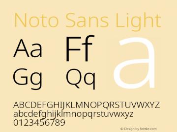 Noto Sans Light Version 2.001图片样张
