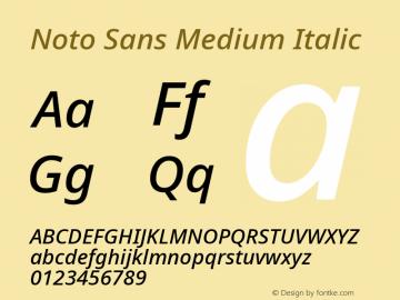 Noto Sans Medium Italic Version 2.001图片样张