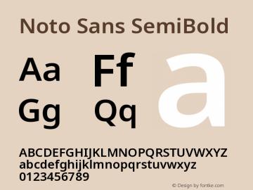 Noto Sans SemiBold Version 2.001图片样张