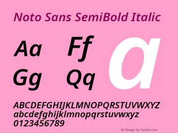 Noto Sans SemiBold Italic Version 2.001图片样张