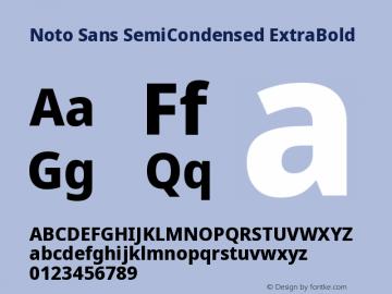 Noto Sans SemiCondensed ExtraBold Version 2.001图片样张