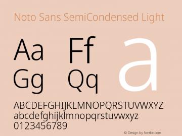 Noto Sans SemiCondensed Light Version 2.001图片样张