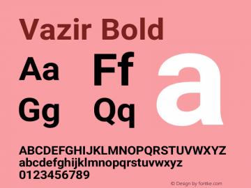 Vazir Bold Version 21.1.0图片样张