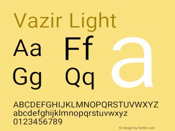Vazir Light Version 21.1.0图片样张