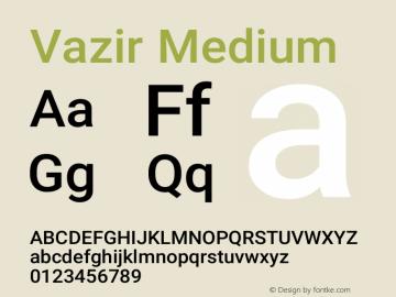Vazir Medium Version 21.1.0图片样张