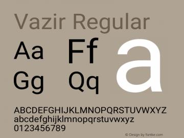 Vazir Version 21.1.0图片样张