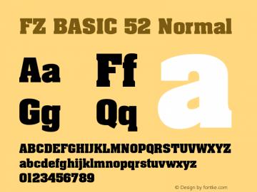 FZ BASIC 52 Normal 1.0 Mon May 02 14:38:14 1994 Font Sample