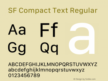 SF Compact Text Regular Version 15.0d7e11图片样张