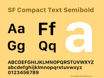 SF Compact Text Semibold Version 15.0d7e11图片样张