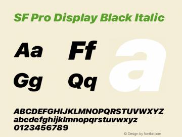 SF Pro Display Black Italic Version 15.0d7e11图片样张