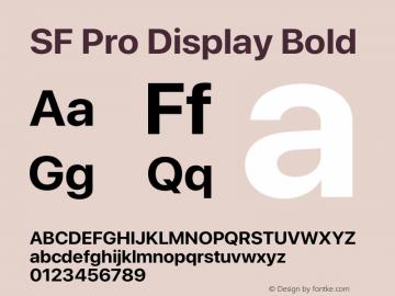 SF Pro Display Bold Version 15.0d7e11图片样张