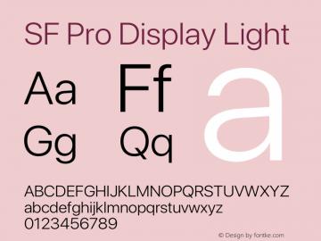 SF Pro Display Light Version 15.0d7e11图片样张