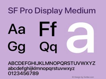 SF Pro Display Medium Version 15.0d7e11图片样张