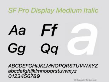 SF Pro Display Medium Italic Version 15.0d7e11图片样张
