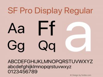 SF Pro Display Regular Version 15.0d7e11图片样张