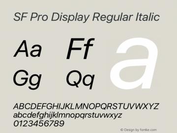 SF Pro Display Regular Italic Version 15.0d7e11图片样张