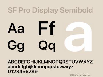 SF Pro Display Semibold Version 15.0d7e11图片样张