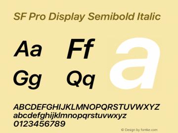 SF Pro Display Semibold Italic Version 15.0d7e11图片样张