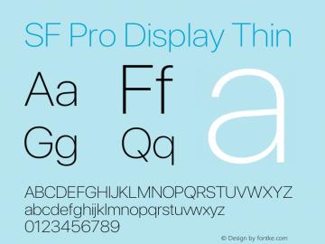 SF Pro Display Thin Version 15.0d7e11图片样张