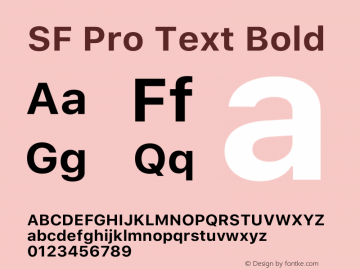 SF Pro Text Bold Version 15.0d7e11图片样张