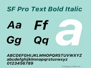 SF Pro Text Bold Italic Version 15.0d7e11图片样张