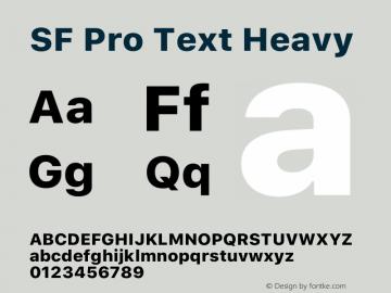 SF Pro Text Heavy Version 15.0d7e11图片样张