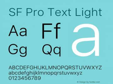 SF Pro Text Light Version 15.0d7e11图片样张