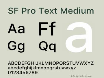 SF Pro Text Medium Version 15.0d7e11图片样张