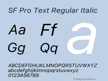 SF Pro Text Italic Version 15.0d7e11图片样张