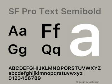 SF Pro Text Semibold Version 15.0d7e11图片样张
