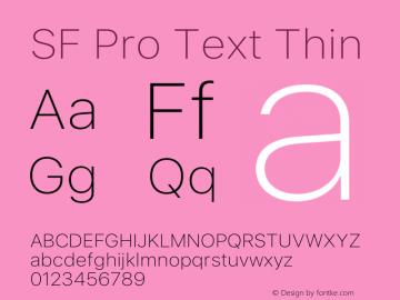 SF Pro Text Thin Version 15.0d7e11图片样张