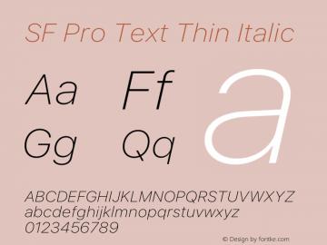 SF Pro Text Thin Italic Version 15.0d7e11图片样张