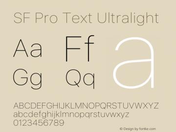 SF Pro Text Ultralight Version 15.0d7e11图片样张