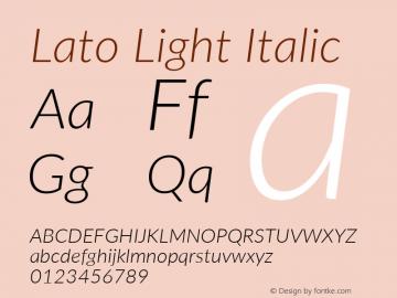 Lato Light Italic Version 3.002; https://www.latofonts.com/图片样张