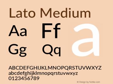 Lato Medium Version 3.002; https://www.latofonts.com/图片样张