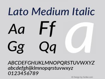 Lato Medium Italic Version 3.002; https://www.latofonts.com/图片样张
