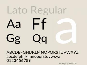 Lato Regular Version 3.002; https://www.latofonts.com/图片样张