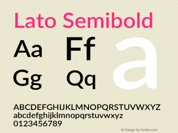 Lato Semibold Version 3.002; https://www.latofonts.com/图片样张