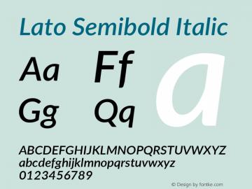 Lato Semibold Italic Version 3.002; https://www.latofonts.com/图片样张
