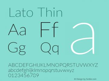 Lato Thin Version 3.002; https://www.latofonts.com/图片样张