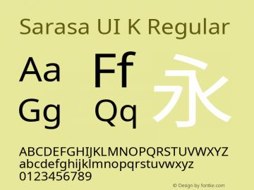 Sarasa UI K Version 0.10.0; ttfautohint (v1.8.3)图片样张